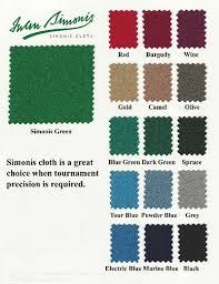 Championship Fabric Colors Atlas Billiards South Fl