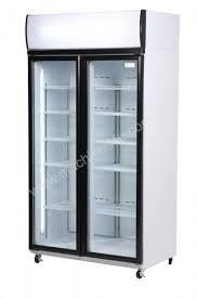 bromic vertical 2 glass door fridge