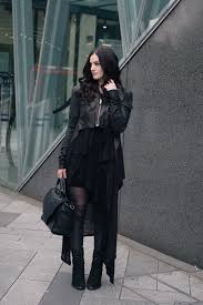outfit layered wolf fashion blogger stephanie of wearing rick owens draped back cropped leather jacket fw10