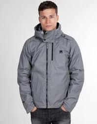 Mens Bench Splendor Jacket In BlackZip FasteningHidden Hood In Bench Mens Jacket