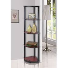 Corner Shelving Units For Living Room Furinno 100 Tier Multi Purpose Corner Shelving Unit Dark Cherry 2