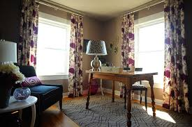 office drapes.  Office Baltimore Curtains Living Room Home Office Contemporary With Wood Flooring  Rectangular Area Rugs Floral Pattern In Office Drapes
