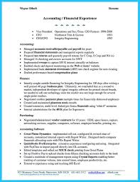 Resume And Accounts Receivable Samples Template Home Design Idea