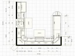 unique kitchen floor plans terrific l shaped u with island regarding kitchen floor plan design
