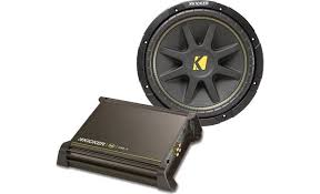kicker 140 watt bass package package includes dx250 1 amp and comp kicker 140 watt bass package front