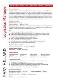 Transport Manager Cv Logistics Resume 40 40 Final Include Keyhome Beauteous Logistics Resume