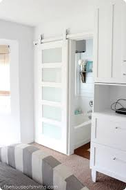 Our Master Bathroom Sliding Door & Basin Custom Hardware | Barn ...