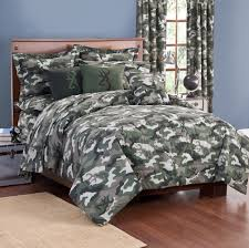 Superb Stylish Camo Bedroom Set With Green Army Camouflage Bedding Comforter,  Buckmark Camo Green Valance,