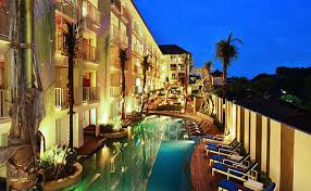 Located in busy Legian, Bliss Surfer Hotel is also one of the best spots to  enjoy the spectacular Bali sunset.