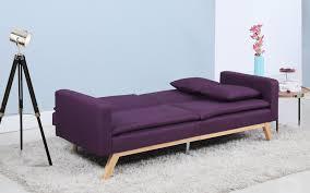 sofa : Fascinate Purple Fabric Sofa Bed Shocking Purple Velvet ...