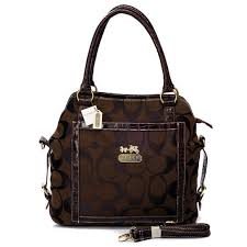 ... Coach Logo In Signature Medium Coffee Satchels Fashion For Sale ...