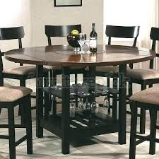 round counter height dining sets black counter height dining set with leaf decoration drew dark round