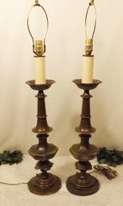 magnificent stately elegant solid brass lamps by westwood ornate cast collar and designs a typical candlestick style lamp finished in an antique brass