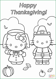 Printable Happy Thanksgiving Coloring Pages Unique Hello Kitty
