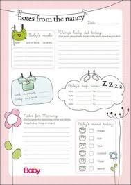 Emergancy Contact Sheet You Can Leave With Peace Of Mind And Help To Make The Nanny Or