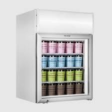 tefcold uf100gcp p countertop glass door display freezer with canopy koolmax