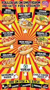 Food Truck Menu Hotdog Taco Lobster Las ...
