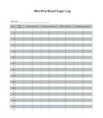 Blood Sugar Monitoring Log Blood Sugar Log Monthly Free Printable Sheet Glucose Monitoring Food