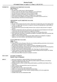 Territory Sales Manager Resume Template Sales Territory Manager