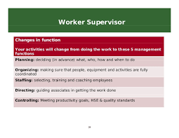 what does employees supervised mean supervising in the warehouse training bright samuel