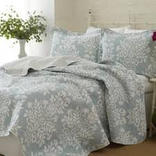 Blue King Size Bedspread & AXON 100% Cotton King size 3-Piece Coverlet Quilt Set in Blue White Floral Adamdwight.com