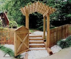 Fence Gate Arbor Designs Arched Arbor Pergola Picket Fence Gate Outdoor Pergola