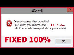 how to fix isdone dll error 100 solved