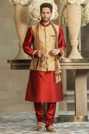 Designer Kurta For Groom A Contrast Kurta Jacket Set Mens Kurta Designs Kurta