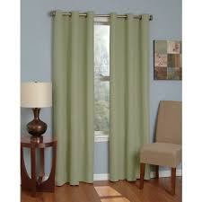 eclipse microfiber thermaback grommet top blackout curtain panel bedding com