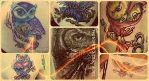 значение тату сова с ключом смысл история фото и эскизы рисунков