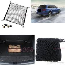 for audi a3 2004 2018 rear trunk cargo organizer storage net horizontal safety nylon liners diy decoration car interior sets car interior stickers from