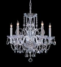 outdoor endearing glass and crystal chandeliers 7 cool clear chandelier with 4 white candles holder chrome