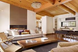 Living rooms tv Nice Relaxing Living Room With Wooden Beams Nonagonstyle Nonagonstyle Living Rooms That Dont All Point To The Television
