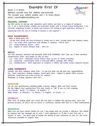 good cv template good cv examples for first job my cv template relevant picture