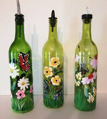 Decorative Wine Bottles With Lights Bottle Painting Ideas zippered 74