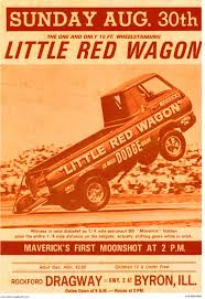 Rockford Dragway- Little Red Wagon — Vintage Reproduction Racing Posters