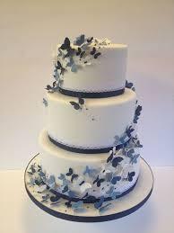 11 Butterfly Wedding Cakes Blue Velvet Photo Blue Butterfly