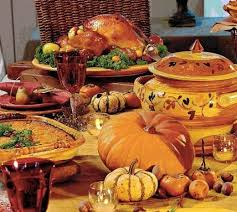 images of thanksgiving dinner table