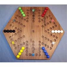 Wooden Marble Game Board Aggravation THE PUZZLEMAN TOYS W100 Wooden Marble Game Board Aggravation 5