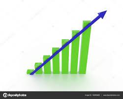 Rising Chart With Arrow Stock Photo Kerdazz7 152589280