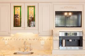 off white cabinets with granite countertops image and