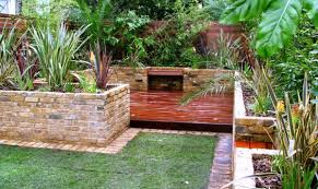 Small Picture brick patio wall garden designs idea yard furniture brooklyn cool
