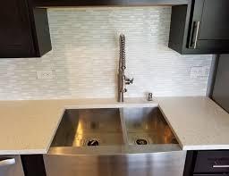iced white quartz with farmer sink