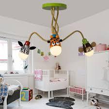 lighting for girls room. modern kids room boy girl bedroom ceiling lamp led creative cartoon animal head light lighting for girls