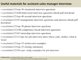 Top   assistant sales manager cover letter samples