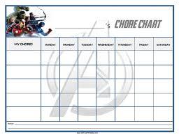 Free Printable Avengers Chore Chart Home Pinterest Chart