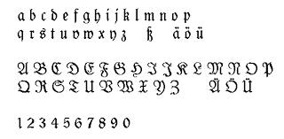 black letter font black letters fraktur schwabacher und gotik