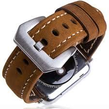 apple watch band brown strap leather 42mm best fit iwatch women men boys girls