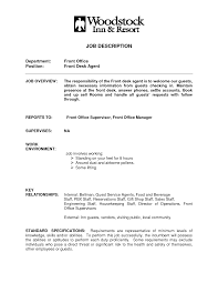 front desk clerk resume template sample