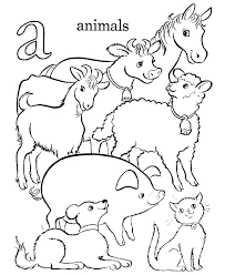 animal color pictures. Simple Color Coloring Pages Of Sea Animals Ocean Printable Baby Animal G For Toddlers  Color Inside Animal Color Pictures H